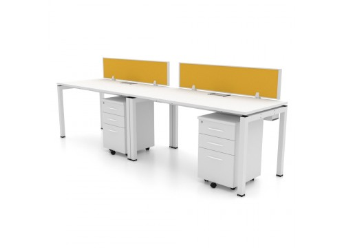 2 SEATERS -WORKSTATIONS DESK With DRAWERS