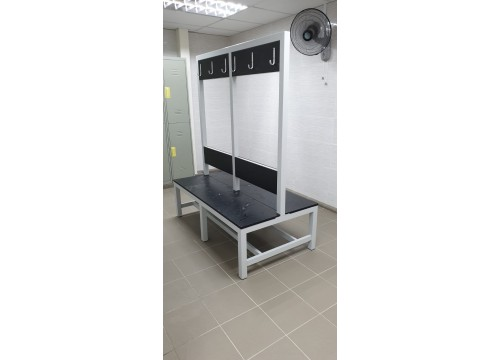 Bench with Hanger Rack