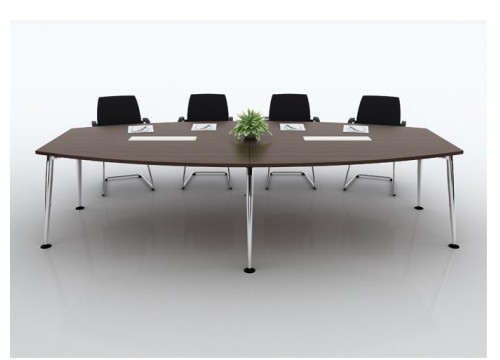 CONFERENCE TABLE - Chrome Leg Support