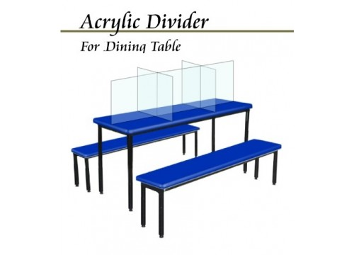 Safety Distance Acrylic Table Dividers