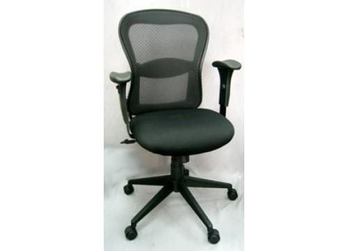 KI-5868BX-Medback Mesh Chair with adjustable armrest ,black mesh c/w backtilt locking function and lumbar Support