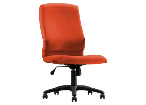 """KI-242LB-NA -Lowback fabric chair """"""""Without"""""""" armrest"""