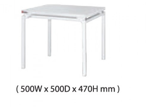 KI- 122ACD - Coffee table with White colour metal leg