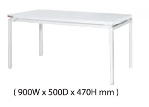 KI-122CD -Coffee table with White colour metal leg