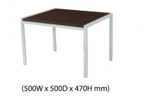 KI- 123ACD -Coffee table with silver colour metal leg.