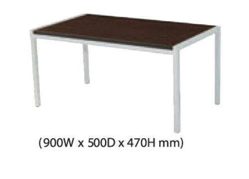 KI-123CD -Coffee table with silver colour metal leg