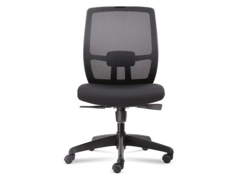 KI-225DLB-NA -Low/medback Mesh Chair without armrest ,black mesh c/w backtilt locking function and lumbar Support