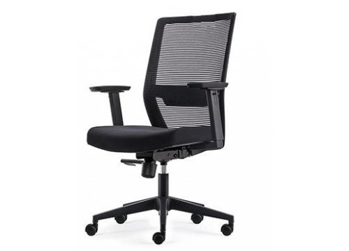 KI-251LB -Low/medback Mesh Chair with adjustable armrest ,black mesh c/w backtilt locking function and lumbar Support