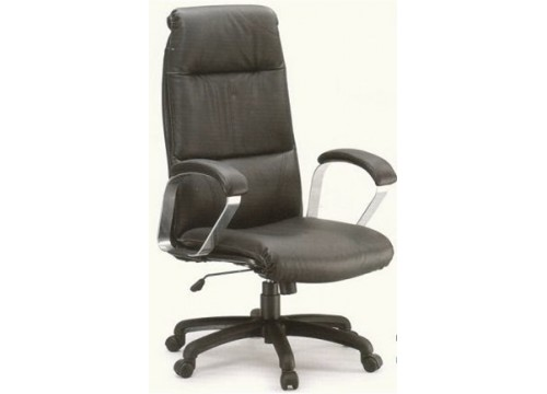 KI-2216 -Genuine Leather Chair with leather armrest c/w kneetilt function and lumbar Support c/w 6 prongs chair