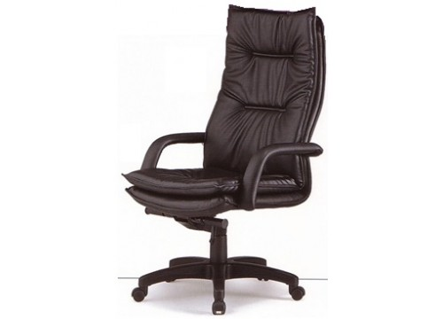 KI- 730LM  Genuine Leather Highback chair c/w backtilt locking function and lumbar Support
