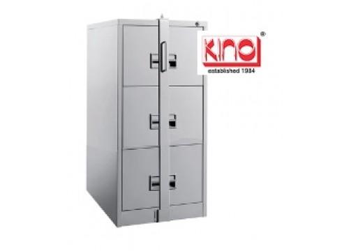 KI- 106B(LB) - Steel 3 drawers filing cabinet c/w locking bar ( exclude locking bar lock)