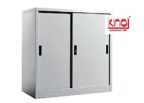 KI-111 -Steel half height slidingdoor c/w 1 shelf & key lock.