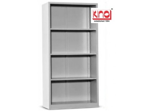 KI- 118W -Steel Full Height Open shelf c/w 3 shelves .  Dimensions: 915W x 457D x 1828H