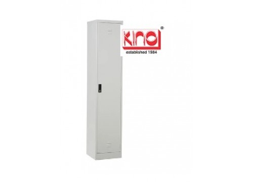 KI- 1D18 -Steel locker c/w 1 door compartment c/w hanging rod and 1 shelf & key lock.