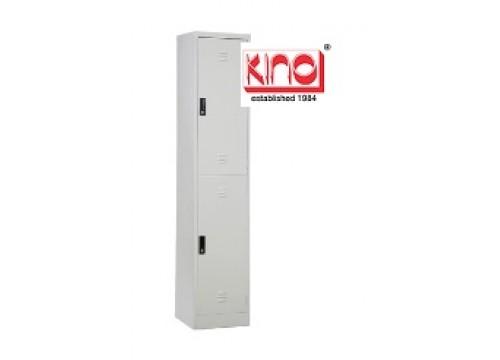 KI- 2D18 -Steel locker c/w 2 door compartment c/w hanging rod and 1 shelf & key lock