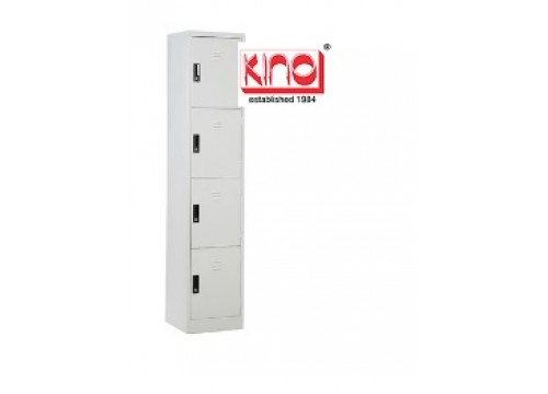 KI - 4D18-Steel locker c/w 4 door compartment  & key lock