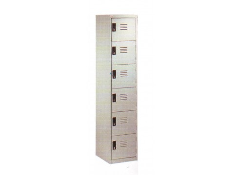 KI- 6D18 Steel locker c/w 6 door compartment  & key lock