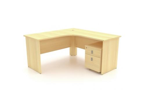 L Shape Table c/w Drawer