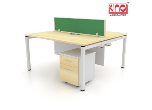 2 SEATERS -WORKSTATIONS DESK With DRAWERS Size :1200L OR 1500L