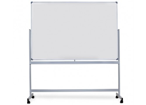 Magnetic White Board c/w Stand & castor wheel (Double Side White Board)  Aluminium frame and c/w Tray
